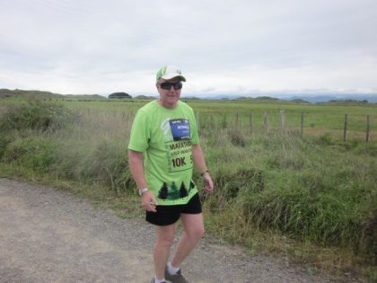One of our people doing a marathon! Great work!